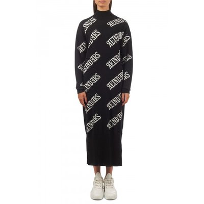 Reinders all over print dress black