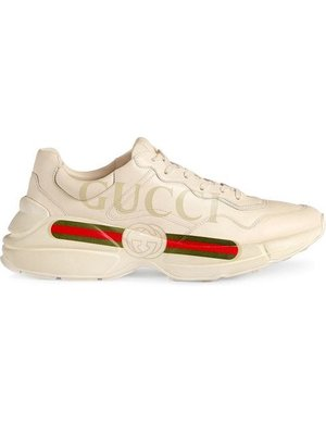 Gucci logo leather sneakers