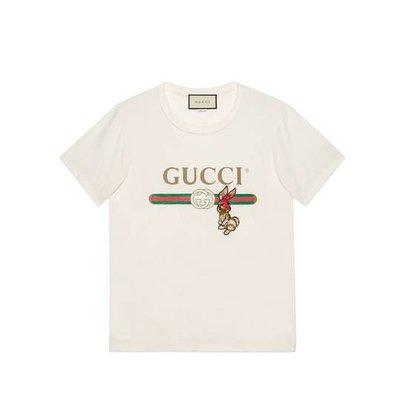 Gucci logo T-shirt with rabbit