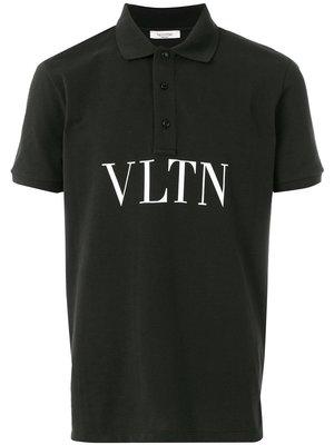 Valentino print polo shirt black