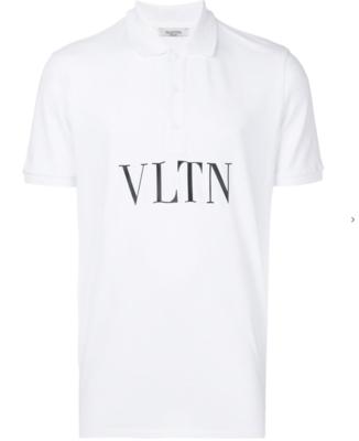 Valentino print polo shirt white