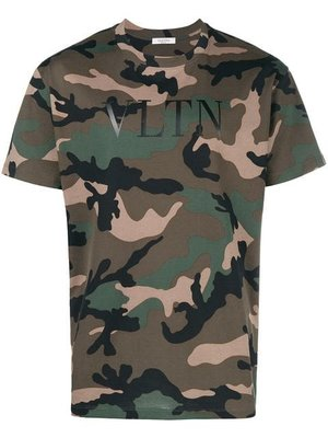Valentino print t-shirt camouflage