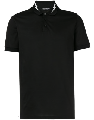 Neil Barrett lightning bolt print polo shirt