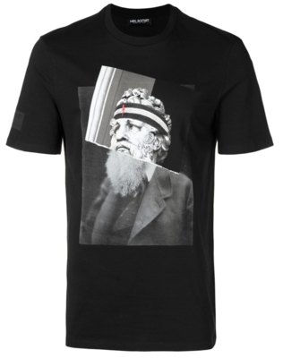 Neil Barrett spliced photo print T-shirt