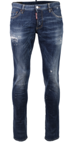 Dsquared2 men's D2 Slim Jeans blauw
