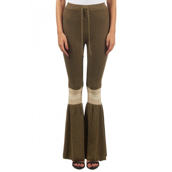 Reinders Daisy  flair pants lurex olive