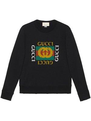 Gucci Cotton sweatshirt with Gucci logo