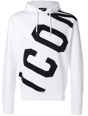 Dsquared2 ICON printed hoodie white