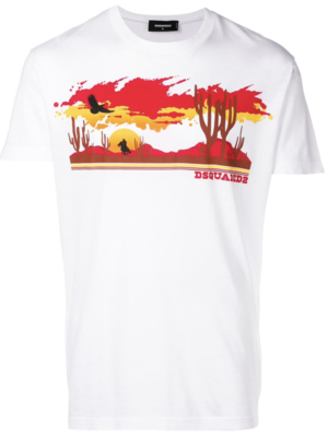 Dsquared2 wild west print T-shirt