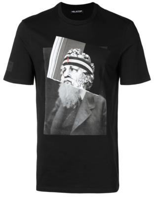 Neil Barrett spliced photo print T-shirt
