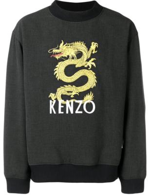 Kenzo dragon print logo sweater