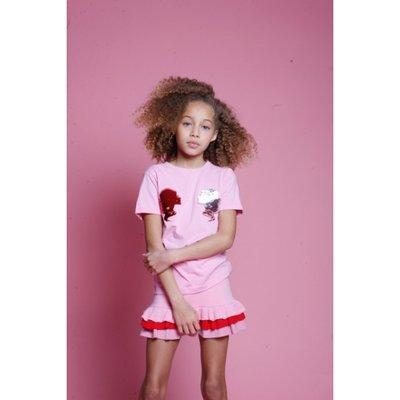 Reinders kids t-shirt headlogo pink
