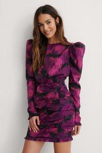 NA-KD - Open Back Mini Dress Flower Print